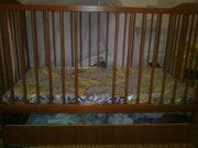 кроватка качалкас матрасом с кокосовой стружкой 700грн.
