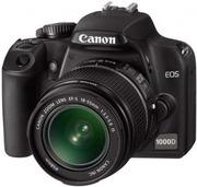 Продам зеркальный фотоаппарат (на гарантии) Canon EOS 1000D 18-55