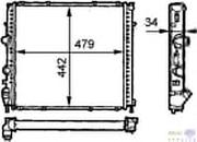 Радіатор 442 mm RENAULT