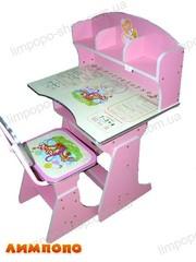 Bambi (БЭМБИ) HB2070-02. Парта детская со стульчиком. Цвет: розовый.