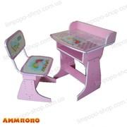 Bambi (БЭМБИ) HB 2029A-02 Парта со стульчиком. Цвет: розовый.