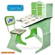 Bambi (БЭМБИ) HB 2071 UK-03 Парта со стульчиком+полка. (цвет: зелены