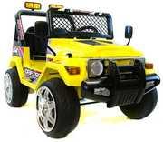 Детский электромобиль 618R + Д/У желтый