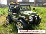 Бомба!Детский электромобиль 618R + Д/У зеленый