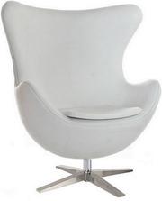 Кресло ЭГГ,  цвет черный/белый