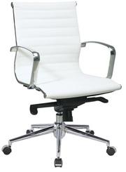 Кресло офисное Алабама,  черный или белый цвет,  средняя спинка