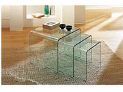 Стол журнальный Валенсия,  стекло,  3 секции