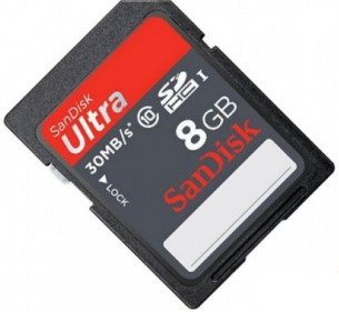 SanDisk sdhc 8GB Ultra UHS-I (class 10) 30MB/s