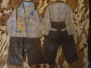 Продам костюмчики рубашка/брюки для двойни.