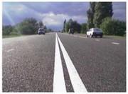 Лак дорожный разметочный для асфальта, бетона, бордюра,  тротуара.