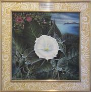 Авторские работы «Пейзаж с белым цветком»