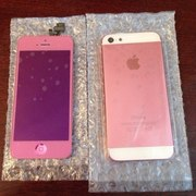 Корпус + стекло на iPhone 5 Pink (new)