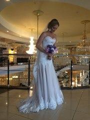 Продам б/у Свадебное платье цвет ПУДРА