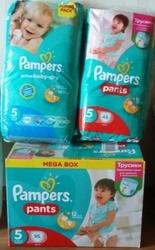 Pampers 5 размер зеленые - подгузники и трусики - дешево!