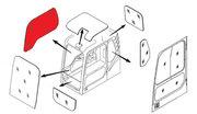 Стекло кабины правое (триплекс) 903-00072A  DOOSAN / DAEWOO DX140-DX52