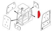 Стекло кабины левое за дверью (триплекс) 4651657  HITACHI серия ZAXIS-