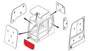 Стекло лобовое нижнее (триплекс) 71Q6-02711 / 71Q6-02710  Hyundai R140