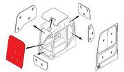Стекло лобовое верхнее (триплекс) K1033880  DOOSAN / DAEWOO DX140-DX52