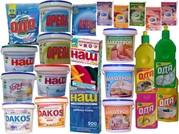 Безфосфатные стиральные,  моющие и чистящие средства Дакос